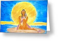 Sereneearth Peaceful Moon Greeting Card