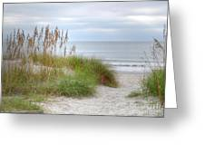 Serenity Beach In Color Greeting Card