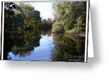 Serenity Pond Reflection At Limehouse Ontario Greeting Card