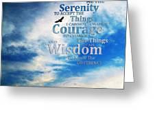 Serenity Prayer 3 - By Sharon Cummings Greeting Card