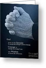 Serenity Prayer Finding Peace Greeting Card