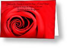 Serenity Rose Greeting Card