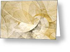 Series Abstract Art In Earth Tones 1 Greeting Card