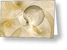 Series Abstract Art In Earth Tones 3 Greeting Card