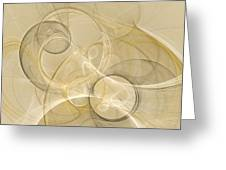 Series Abstract Art In Earth Tones 4 Greeting Card