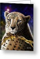 First In The Big Cat Series - Cheetah Greeting Card