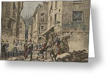 Serious Troubles In Italy Riots Greeting Card