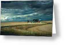 Serious Working Farm Greeting Card