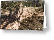 Serpentine Wall University Of Virginia Greeting Card