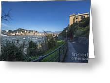 Sestri Levante And A Street Greeting Card
