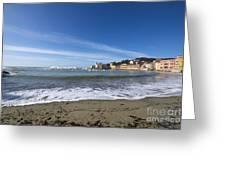 Sestri Levante And Beach Greeting Card