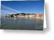 Sestri Levante With Blue Sky Greeting Card
