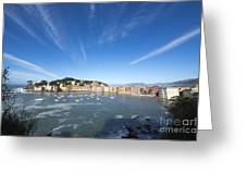 Sestri Levante With Clouds Greeting Card