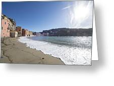 Sestri Levante With The Beach Greeting Card