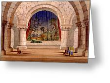 Set Design For Hamlet By William Greeting Card