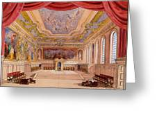 Set Design For The Merchant Of Venice Greeting Card