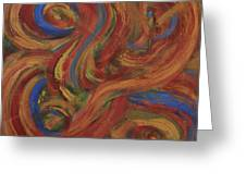 Set To Music - Original Abstract Painting Painting - Affordable Art Greeting Card