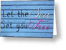 Set You Free Greeting Card