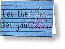 Set You Free Greeting Card