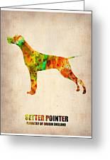 Setter Pointer Poster Greeting Card