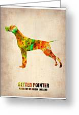 Setter Pointer Poster Greeting Card by Naxart Studio