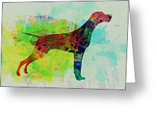 Setter Pointer Watercolor Greeting Card