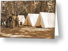 Settin Up Camp Greeting Card