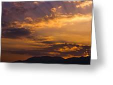 Setting Sunrays Greeting Card