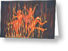 Setting The Stage On Fire Greeting Card