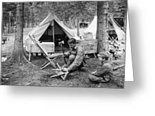 Setting Up Camp Greeting Card