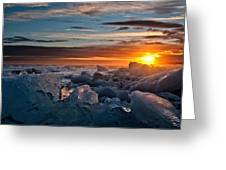Setting Upon Ice Greeting Card