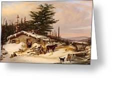 Settler's Log House Greeting Card