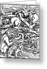 Seven Deadly Sins, 1511 Greeting Card