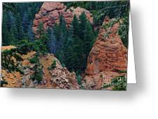 Seven Falls Mountain's Colorado Greeting Card by Robert D  Brozek