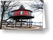 Seven Foot Knoll Lighthouse - Baltimore Greeting Card