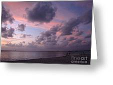 Seven Mile Beach Sunset Greeting Card