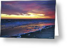 Seven Minutes On The Beach Greeting Card
