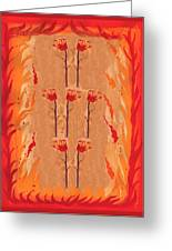 Seven Of Wands Greeting Card