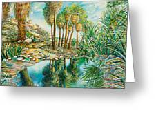 Seven Palms Oasis Greeting Card