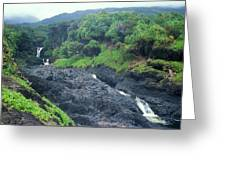Seven Sacred Pools Haleakala National Park Maui Hawaii Greeting Card