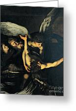 Seven Works Of Mercy Greeting Card by Caravaggio