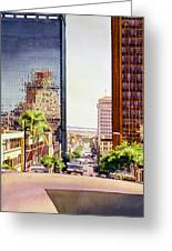 Seventh Avenue In San Diego Greeting Card