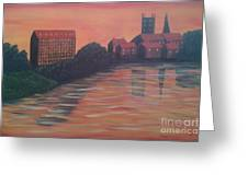 Severn Sunset Greeting Card