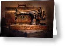 Sewing Machine  - Singer  Greeting Card by Mike Savad