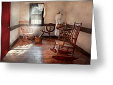 Sewing - Room - Grandma's Sewing Room Greeting Card