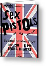 Sex Pistols First Us Appearance Greeting Card