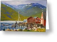 Seydisfjordur Wharf Greeting Card