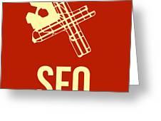 Sfo San Francisco Airport Poster 2 Greeting Card by Naxart Studio