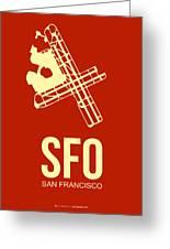 Sfo San Francisco Airport Poster 2 Greeting Card