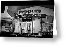 Sgt. Peppers Piano Cafe Greeting Card Greeting Card